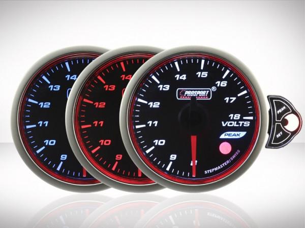 Prosport Voltmeter TRC HALO Premium Serie 52mm
