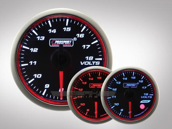 Prosport Voltmeter WRC HALO Premium Serie 52mm