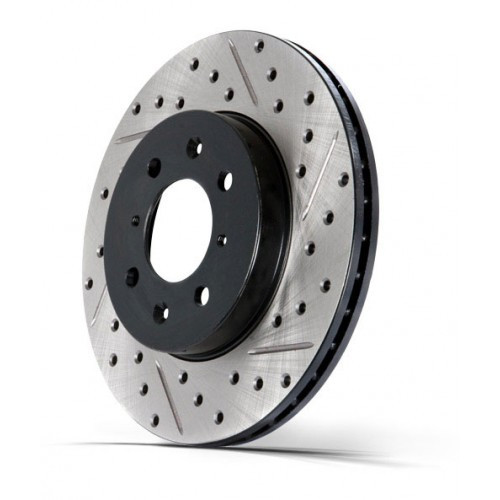 Stoptech Slotted & Drilled Brake Disc - Hinten - RH - Nissan 200SX S14