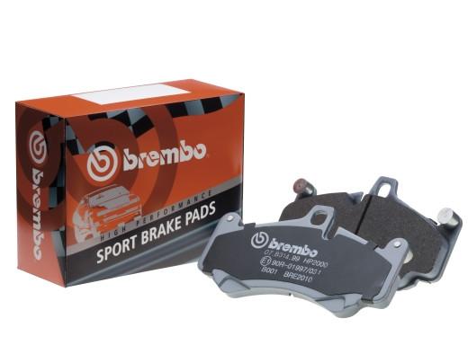 Hochleistungs-Bremsbeläge Brembo HP2000 - Hinten - Nissan Skyline R33 GTST / R34 GTT