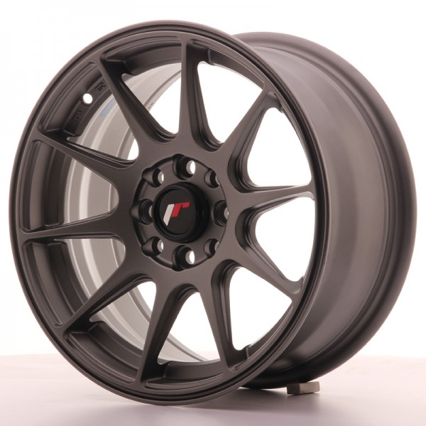 Japan Racing JR11 15x7 ET30 4x100/108 Matt Gun Met