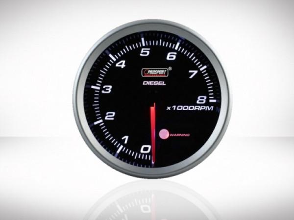 Prosport Drehzahlmesser Diesel Racing Serie 80mm
